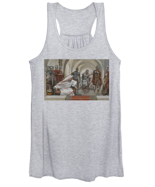 Jesus Led From Herod To Pilate Women's Tank Top