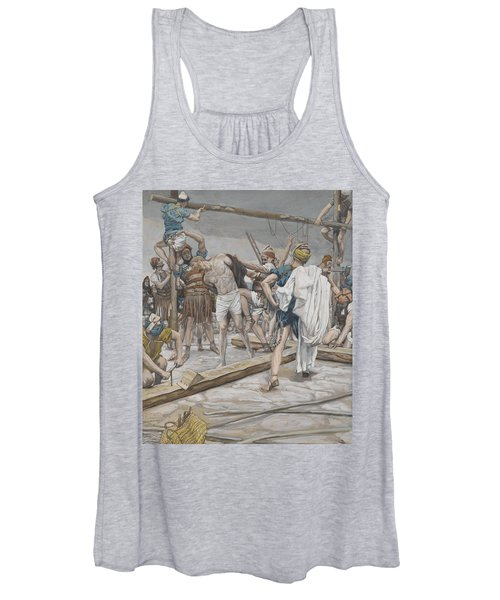 Jesus Stripped Of His Clothing Women's Tank Top