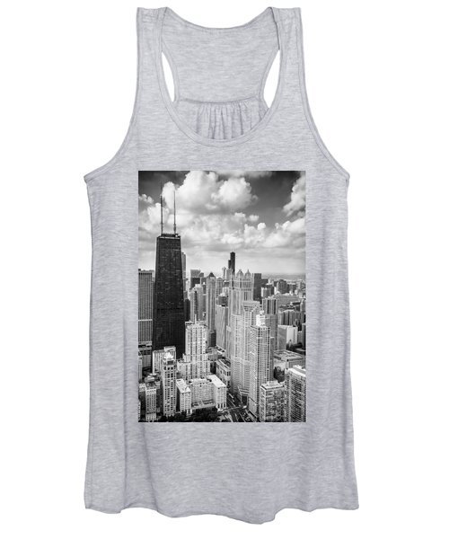 John Hancock Building In The Gold Coast Black And White Women's Tank Top