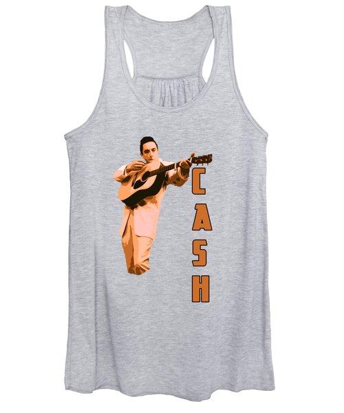 Johnny Cash The Legend Women's Tank Top