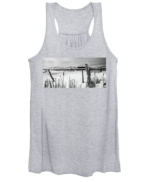 Keeping Watch Black And White Women's Tank Top