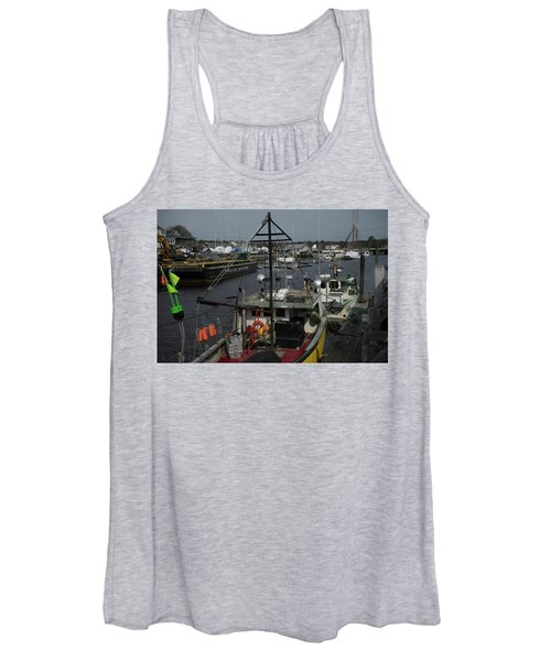 Kennebunkport Harbor In Early Winter Women's Tank Top