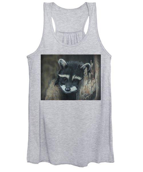 Kit...the Baby Raccoon Women's Tank Top