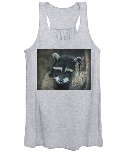 Kit...the Baby Raccoon Women's Tank Top