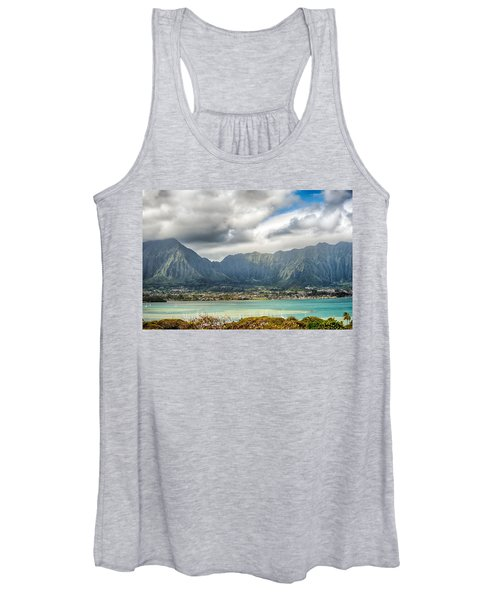 Ko'olau And H-3 In Color Women's Tank Top