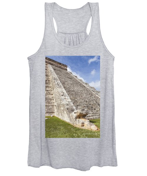 Kukulkan Pyramid At Chichen Itza Women's Tank Top