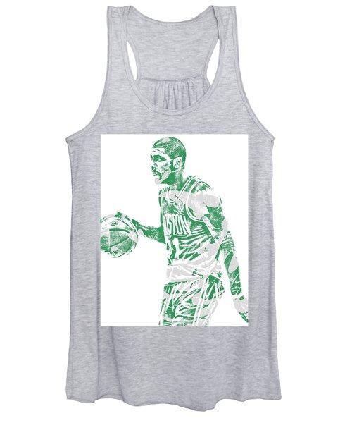 Kyrie Irving Boston Celtics Pixel Art 40 Women's Tank Top