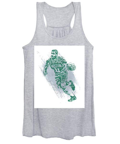 Kyrie Irving Boston Celtics Water Color Art 2 Women's Tank Top