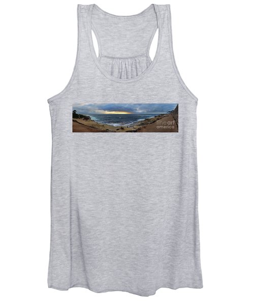 La Jolla Shores Beach Panorama Women's Tank Top