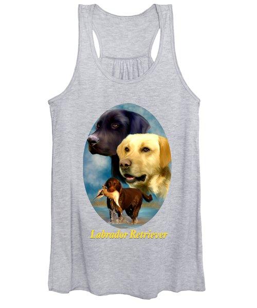 Labrador Retriever With Name Logo Women's Tank Top