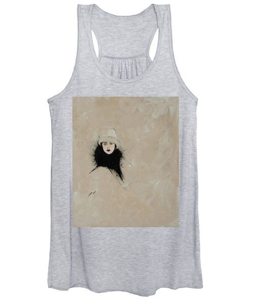 Lady With Black Fur Women's Tank Top