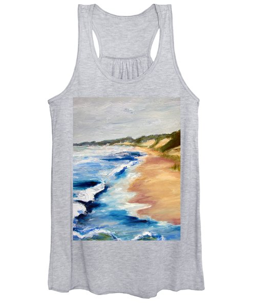 Lake Michigan Beach With Whitecaps Detail Women's Tank Top