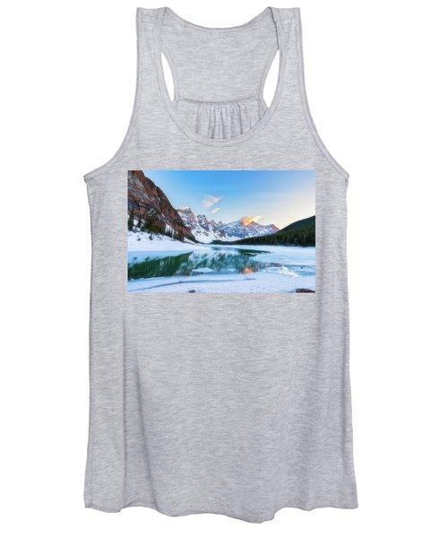 Lake Moraine Sunset Women's Tank Top