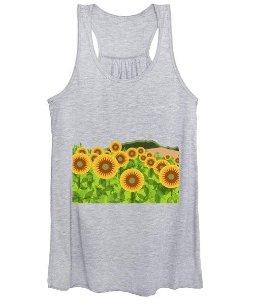 Land Of Sunflowers. Women's Tank Top