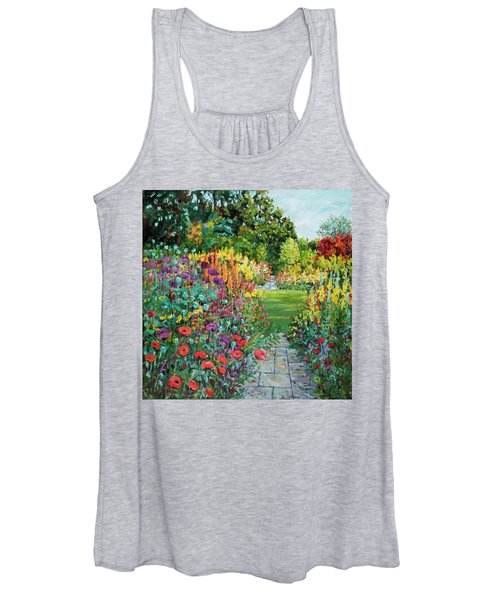 Landscape With Poppies Women's Tank Top