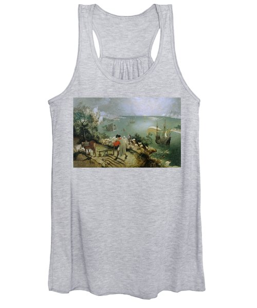 Landscape With The Fall Of Icarus Women's Tank Top
