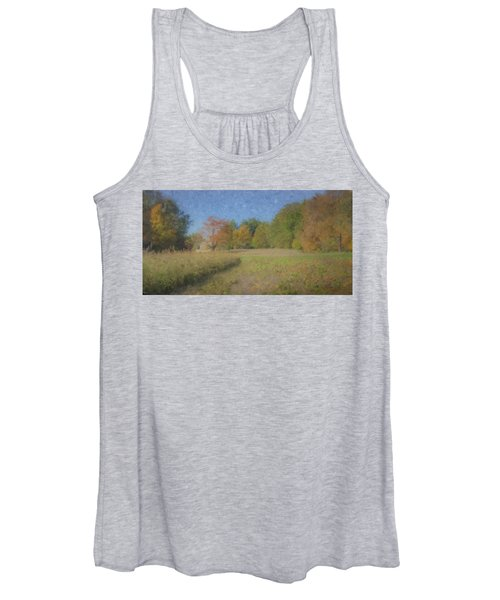 Langwater Farm With Pumpkins And Chateau Women's Tank Top