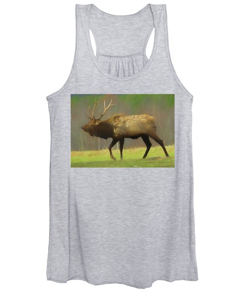 Large Pennsylvania Bull Elk. Women's Tank Top