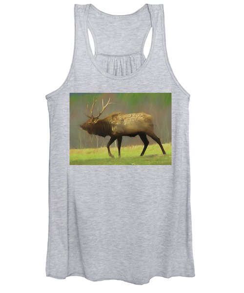 Large Pennsylvania Bull Elk. Women's Tank Top