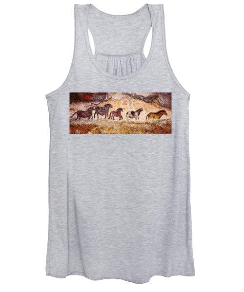 Lascaux Horses Women's Tank Top