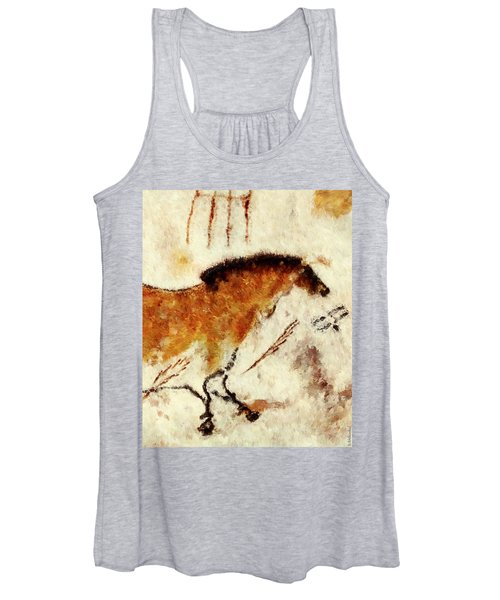 Lascaux Prehistoric Horse Detail Women's Tank Top
