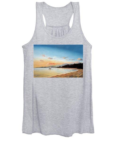Late Sunset Along The Beach Women's Tank Top