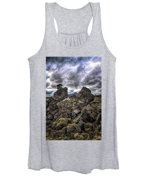 Lava Rock And Clouds Women's Tank Top