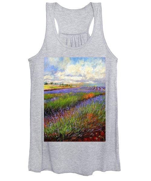 Lavender Field Women's Tank Top