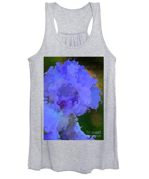 Lavender Curlicue Iris  Women's Tank Top