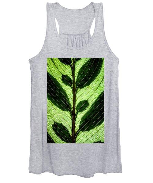 Leaf Detail Women's Tank Top