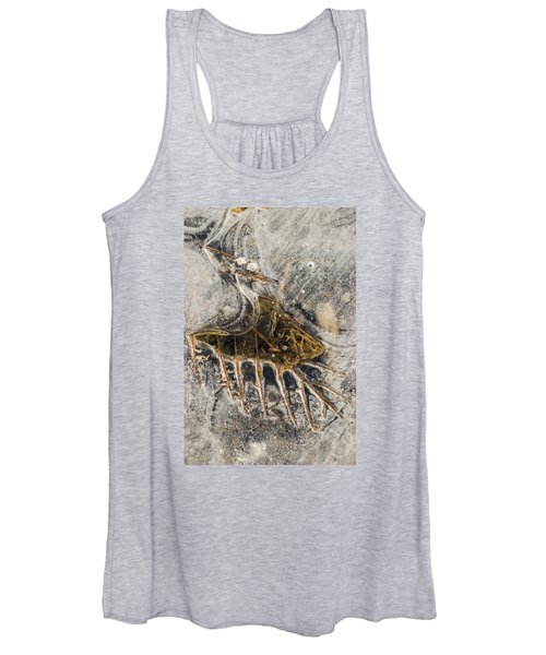 Leaf Veins In Ice Women's Tank Top