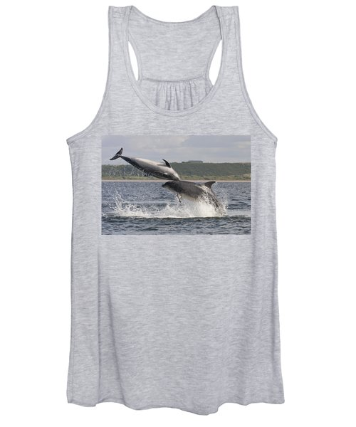 Leaping Bottlenose Dolphins - Scotland  #38 Women's Tank Top
