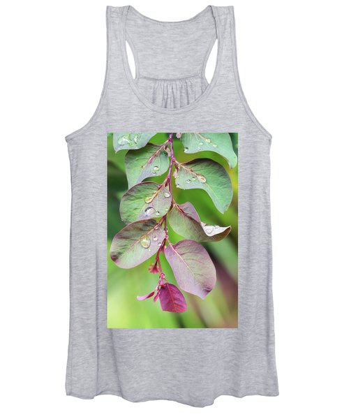 Leaves And Raindrops Women's Tank Top