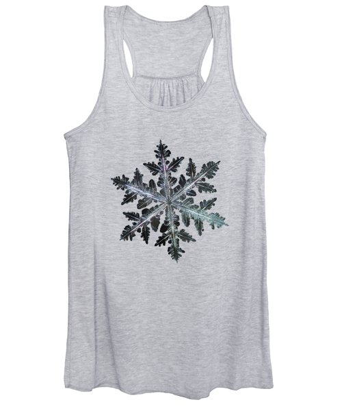 Leaves Of Ice, Panoramic Version Women's Tank Top