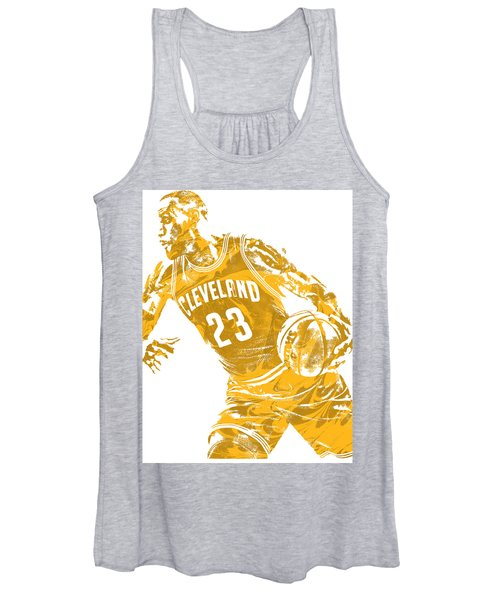 Lebron James Cleveland Cavaliers Pixel Art 20 Women's Tank Top