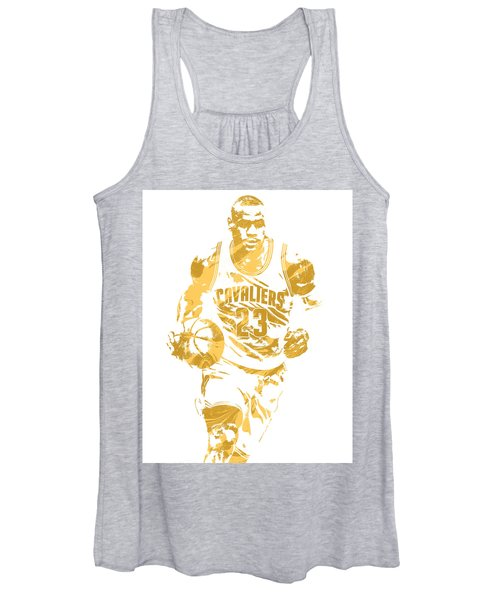 Lebron James Cleveland Cavaliers Pixel Art 7 Women's Tank Top