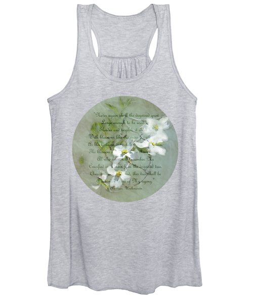 Legend Of The Dogwood Typography Women's Tank Top
