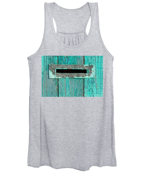 Letter Box On Blue Wood Women's Tank Top