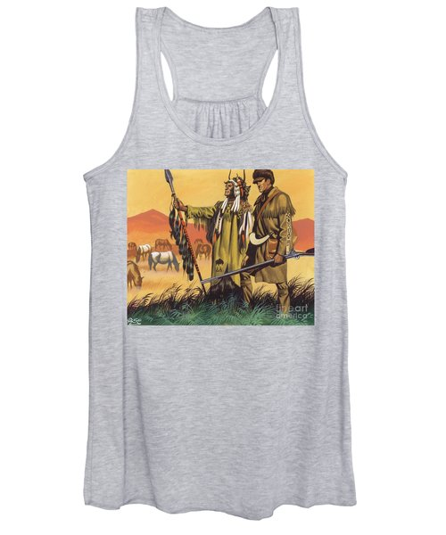 Lewis And Clark Expedition Scene Women's Tank Top