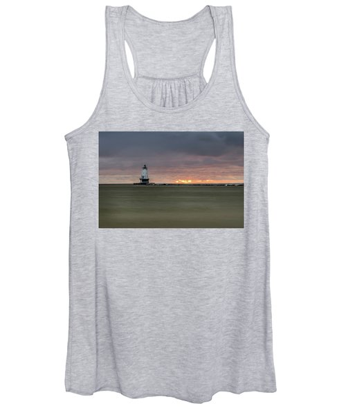 Lighthouse And Sunset Women's Tank Top