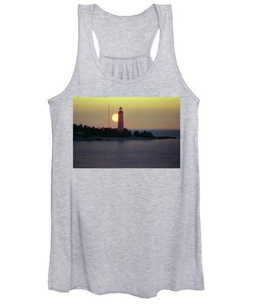 Lighthouse At Sunset Women's Tank Top