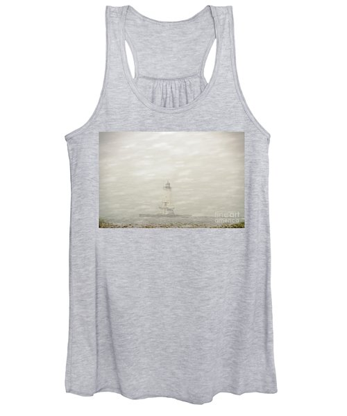 Lighthouse In Snowstorm Women's Tank Top