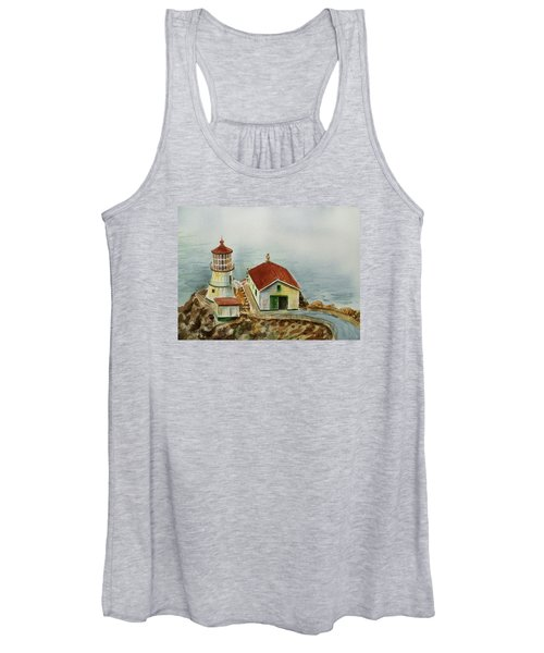 Lighthouse Point Reyes California Women's Tank Top