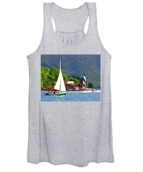 Lighthouse Sailors Smith Mountain Lake Women's Tank Top