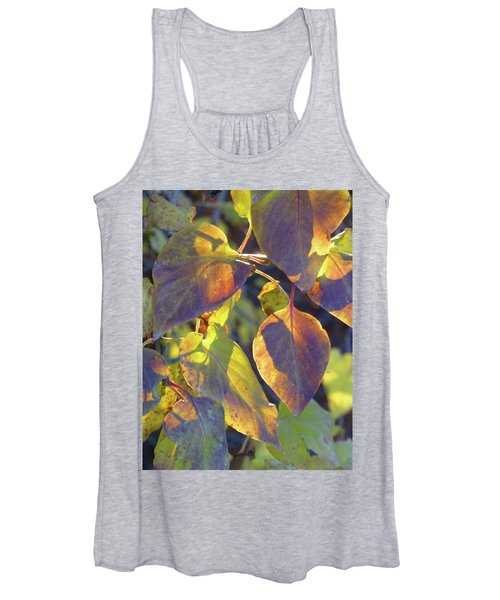 Lilac Leaves Women's Tank Top