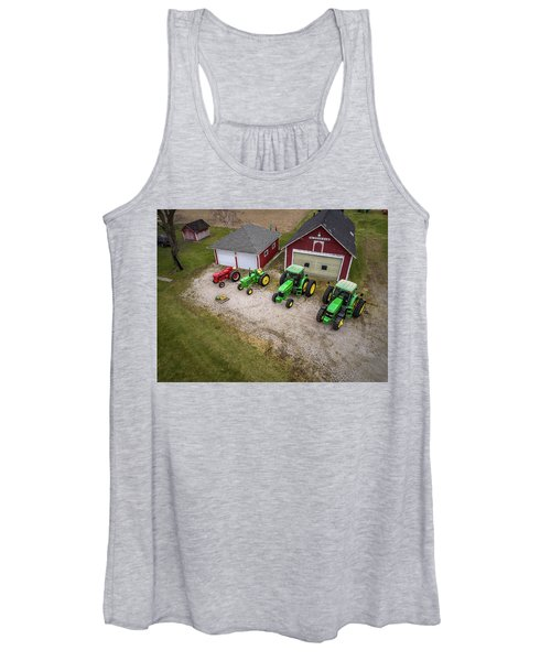 Lining Up The Tractors Women's Tank Top