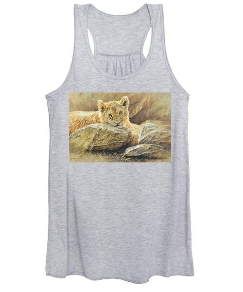 Lion Cub Study Women's Tank Top