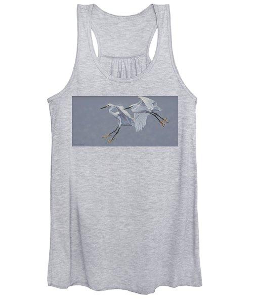 Little Egrets In Flight Women's Tank Top