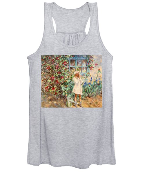 Little Girl With Roses  Women's Tank Top