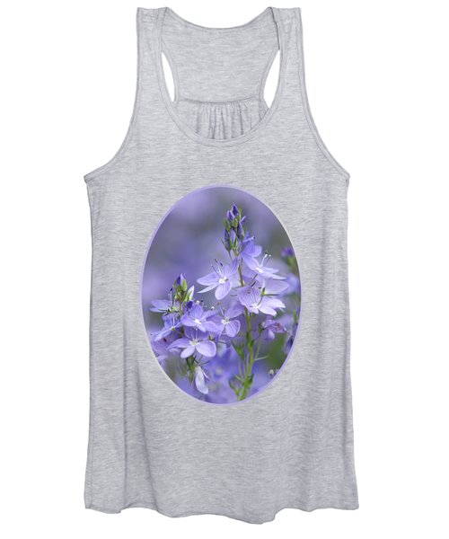 Little Purple Flowers Vertical Women's Tank Top